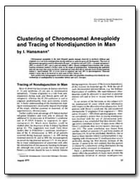 Clustering of Chromosomal Aneuploidy and... by Hansmann, I.