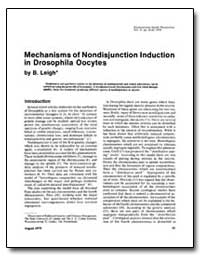 Mechanisms of Non-Disjunction Induction ... by Leigh, B.