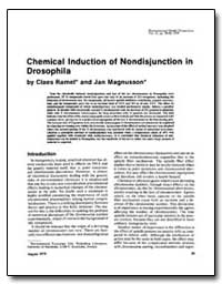 Chemical Induction of Non-Disjunction in... by Ramel, Claes
