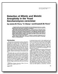 Detection of Mitotic and Meiotic Aneuplo... by Parry, James M.
