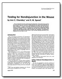 Testing for Non-Disjunction in the Mouse by Chandley, Ann C.