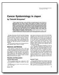 Cancer Epidemiology in Japan by Hirayama, Takeshi