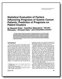 Statistical Evaluation of Factors Influe... by Goto, Masashi