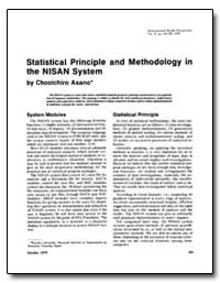 Statistical Principle and Methodology in... by Asano, Chooichiro