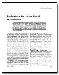 Implications for Human Health by Golberg, Leon