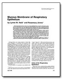 Mucous Membrane of Respiratory Epitheliu... by Reid, Lynne M.