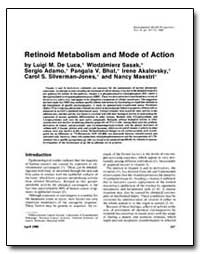 Retinoid Metabolism and Mode of Action by De Luca, Luigi M.