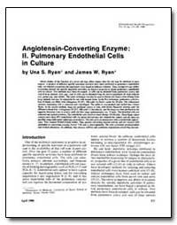 Angiotensin-Converting Enzyme : Ii Pulmo... by Ryan, Una S.