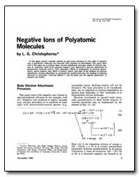 Negative Ions of Polyatomic Molecules by Christophorou, L. G.