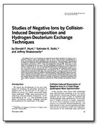 Studies of Negative Lons by Collision- I... by United Nations