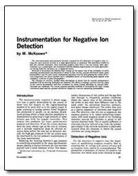 Instrumentation for Negative Ion Detecti... by Mckeown, M.