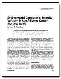 Environmental Correlates of Intercity Va... by Robertson, Leon S.