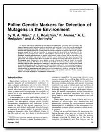 Pollen Genetic Markers for Detection of ... by Nilan, R. A.
