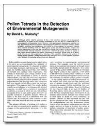 Pollen Tetrads in the Detection of Envir... by Mulcahy, David L.