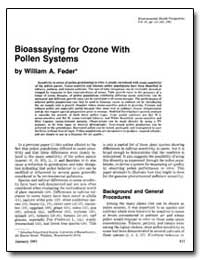Bioassaying for Ozone with Pollen System... by Feder, William A.