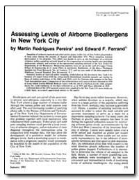 Assessing Levels of Airborne Bioallergen... by Ferrand, Edward F.