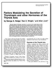 Factors Modulating the Secretion of Thyr... by Hedge, George A.