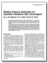 Relative Potency Estimation for Syntheti... by Holland, J. M.