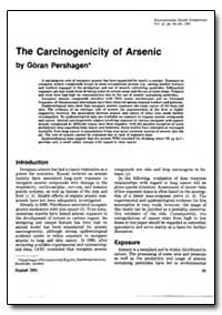 The Carcinogenicity of Arsenic by Pershagen, Goran