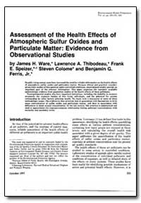 Assessment of the Health Effects of Atmo... by Ware, James H.
