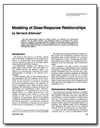 Modeling of Dose-Response Relations Hips by Altshuler, Bernard