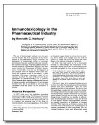 Immunotoxicology in the Pharmaceutical I... by Norbury, Kenneth C.