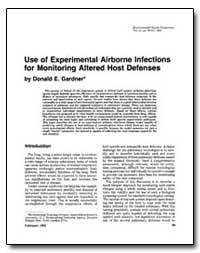 Use of Experimental Airborne Infections ... by Gardner, Donald E.