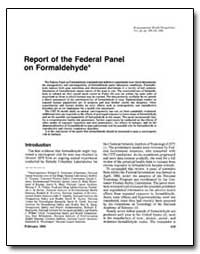 Report of the Federal Panel on Formaldeh... by United Nations