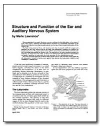 Structure and Function of the Ear and Au... by Lawrence, Merle