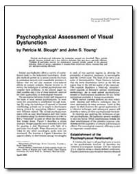 Psychophysical Assessment of Visual Dysf... by Blough, Patricia M.