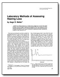 Laboratory Methods of Assessing Hearing ... by Marller, Aage R.