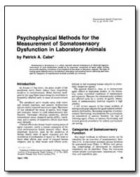 Psychophysical Methods for the Measureme... by Cabe, Patrick A.