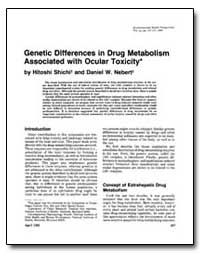 Genetic Differences in Drug Metabolism A... by Shichi, Hitoshi