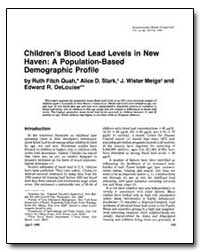 Children's Blood Lead Levels in New Have... by Quah, Ruth Fitch