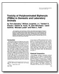 Toxicity of Polybrominated Biphenyls (Pb... by Damstra, Terri