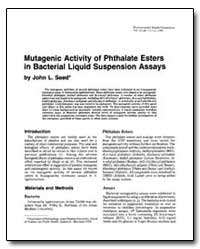 Mutagenic Activity of Phthalate Esters i... by Seed, John L.