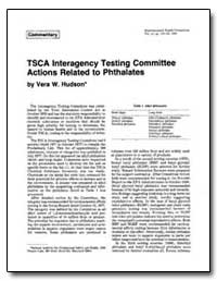 Tsca Interagency Testing Committee Actio... by Hudson, Vera W.