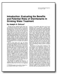 Introduction : Evaluating the Benefits a... by Cotruvo, Joseph A.