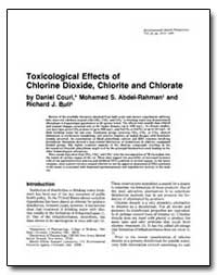 Toxicological Effects of Chlorine Dioxid... by Couri, Daniel