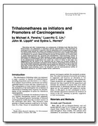 Trihalomethanes as Initiators and Promot... by Pereira, Michael A.