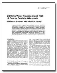 Drinking Water Treatment and Risk of Can... by Kanarek, Marty S.