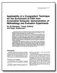 Applicability of a Cryogradient Techniqu... by Alsberg, Tomas