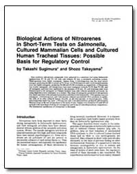 Biological Actions of Nitroarenes in Sho... by Sugimura, Takashi