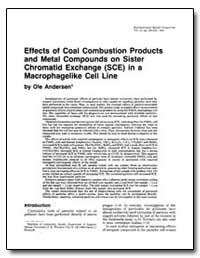 Effects of Coal Combustion Products and ... by Andersen, Ole