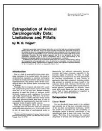 Extrapolation of Animal Carcinogenicity ... by Hogan, M. D.