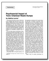 Psychosocial Impact of Toxic Chemical Wa... by Levine, Adeline