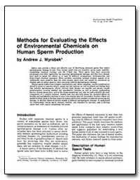 Methods for Evaluating the Effects of En... by Wyrobek, Andrew J.