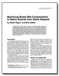Monitoring Breast Milk Contamination to ... by Rogan, Walter J.