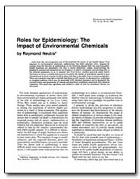 Roles for Epidemiology : The Impact of E... by Neutra, Raymond R.