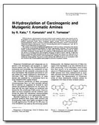 N-Hydroxylation of Carcinogenic and Muta... by Yamazoe, Y.